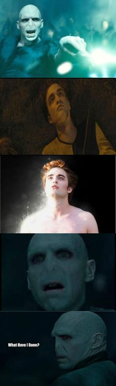 Voldemort just became public enemy #4... right next to the Twilight characters =D