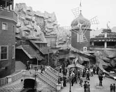 The Old Mill Ride Coney island Vintage 8x10 Reprint Of Old Photo