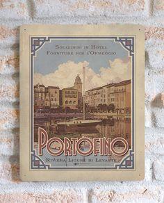 Portofino | TARGA | Vimages - Immagini Originali in stile Vintage