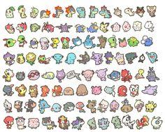 chibi pokemon :3