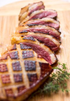 Researching Valentine's day menu~Magret de Canard (Seared Duck Breast with Honey, Orange, and Thyme)