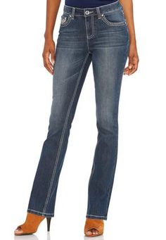 Cato Fashions Embellished Pocket Bootcut Jeans #CatoFashions