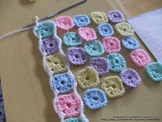 Left Over Yarn Baby Blanket | Free Crochet Blanket Patterns