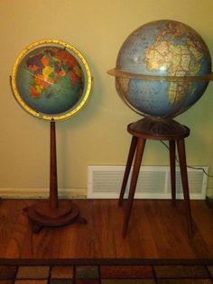 Danish globes. Mid Century