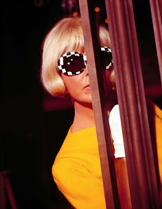 7/19/14 8:16a   20th Century Fox ''Caprice''  Doris Day    Wild Eye Sun Glasses    ''Eye'' Spy Released: 6/1967  Doris Day's 36th Film  operaqueen.tumblr.com