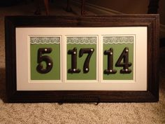 Fun way to share the date at the engagement party and can be displayed in your home afterward!