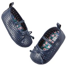 Carter's Perforated Mary Jane Crib Shoes
