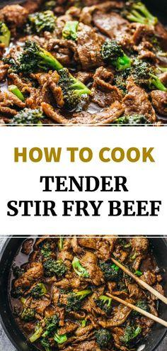 Stir Fry Beef Marinade, Stir Fry Meat, Stir Fry Dishes, Beef Dishes, Steak Stirfry Recipes, Stir Fry Recipes, Entree Recipes, Beef Recipes, Cooking Recipes
