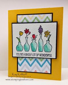 Stamping to Share: Using Blender Pens with Vivid Vases - Includes a How To Video