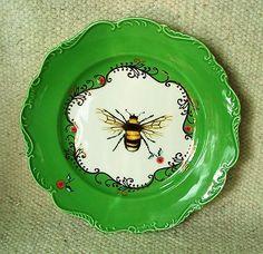 Honey bee plate