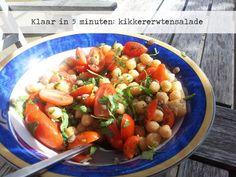Kikkererwtensalade met tomaat & koriander