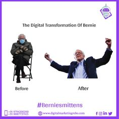 #Berniesmittens Take your business out of the mittens of traditional marketing and witness the power of the digital world with DMR! Mittens, Digital Marketing, Traditional, Business, Fingerless Mitts, Fingerless Mittens, Store, Gloves, Business Illustration