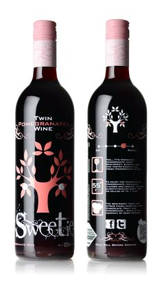 Twin Pomegranate Wines - Sweetie PD  (A Tea Party Must!)  monvera.com