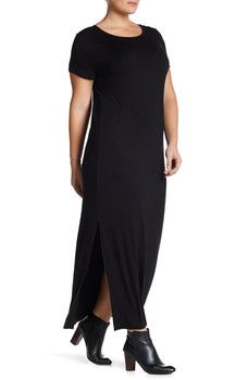Loveappella - Tee Shirt Maxi Dress (Plus Size)