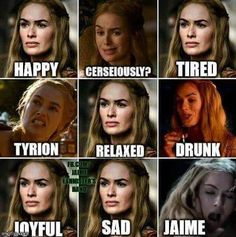 Game Of Thrones Time, Game Of Thrones Jokes, Cersei And Jaime, Game Of Thones, Best Memes Ever, Got Memes, Cersei Lannister, Love Games, Humor