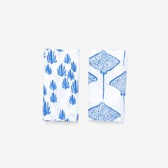 Seaweed + Stingray Burp Cloth Set | Marine