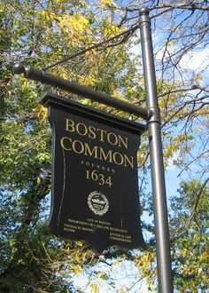 Boston Common--oldest city park in USA...Puritans used to meet here and cows grazed. Also used as a military training field and a football field for America's very first football team--Oneida Football club in the 1860s