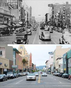 Telegraph Avenue, Oakland, California, then and now