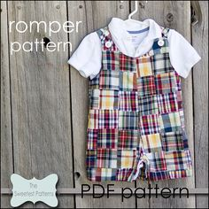 Pattern...the seamstress doing my mom's alterations said she'd make the nephews shortalls for us :)