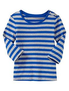 1f2a8a3292 3 4 sleeve striped t-shirt from Gap