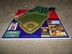 """Mike Canonica of Sports Stadium Replicas submitted his 1940 version of Fenway Park adapted to a Strat-O-Matic game board. The model is constructed of styrene plastic and sits on a 24"""" x 24"""" plywood base. Note that in 1940 Fenway Park had no lights and ads on the left field wall. @Boston Red Sox #fenway #stratomatic"""