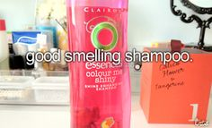 I love it when my hair smells and looks good. So a good smelling shampoo is for sure in my bathroom :D