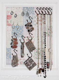 DIY Jewelry Organizer/Wall Decor. :-)