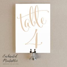 1-30 Gold Champagne Wedding Table Numbers by KarlyKDesignShop