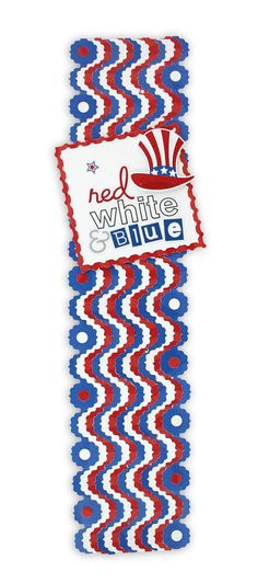 Cheerful Stars & Stripes Frame Chain Scrapbook Border