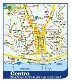 Mapa do centro de Lisboa