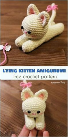 Lying Kitten Amigurumi [Free Crochet Pattern]
