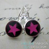 Pinkit tähdet - Helmipaikka Oy - Joka päivä on korupäivä - Helmipaikka.fi koruja netistä - Tea Design #earrings #stars