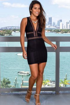 Buy this beautiful Black Lace V-Neck Short Dress from Saved By The Dress Online Boutique! Very special dress for ANY occasion. Tight Dresses, Sexy Dresses, Cute Dresses, Casual Dresses, Short Dresses, Ladies Night Outfit, Girls Night Out Dresses, Lace Dress Black, Dress Lace