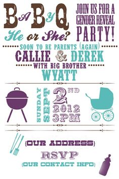 At Home printable invitations