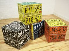license plate cubes