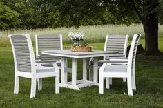 Berlin Gardens Classic Terrace Five Piece Poly Dining Set Get in on the fun with strong, durable, attractive furniture that's low maintenance AND eco friendly. Poly. Available in lots of fun colors.