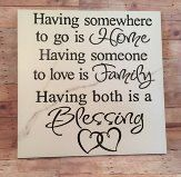 Shop for on Etsy, the place to express your creativity through the buying and selling of handmade and vintage goods. Vinyl Quotes, Sign Quotes, Tile Projects, Vinyl Projects, Decorative Tile, Decorative Items, Shilouette Cameo, Tile Crafts, Diy Cutting Board