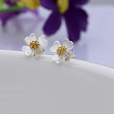 925 #Sterling #Silver #Stud #Earring,  more colors for choice.