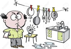 Vector cartoon of husband washing and drying dishes in kitchen. Kids Dishes, Free Android Games, First Finger, Games For Toddlers, Best Games, Games To Play, Fairy Tales, Graphic Art, App