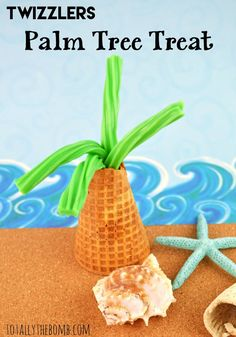 Twizzlers Palm Tree Treat - Aloha, kids! This treat is perfect for beach parties and more! Click now!
