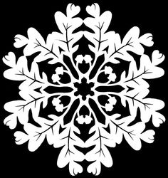 Oak | Flickr - Photo Sharing! Paper Snowflake Designs, Paper Snowflakes, Snowflake Pattern, Paper Crafts Origami, Paper Quilling, Scrapbook Paper Crafts, Leaf Crafts, Fall Crafts, Christmas Crafts