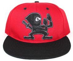 Rocksmith Ninja Mascot Snapback Red