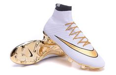 2016 New Nike Mercurial Superfly IV FG White Golden
