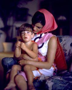 John Kennedy, Jr., and mom