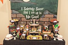 Harry Potter candy bar styled by Sweet Little Birdy