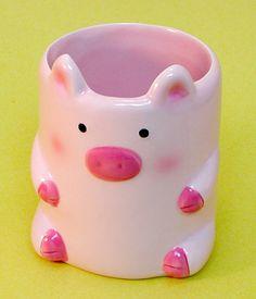 Piggy-Shaped Piggy Mug Cute Baby Pigs, Cute Piggies, This Little Piggy, Little Pigs, Pig Kitchen, Piggly Wiggly, Mini Pigs, Chocolate Mugs, Flying Pig