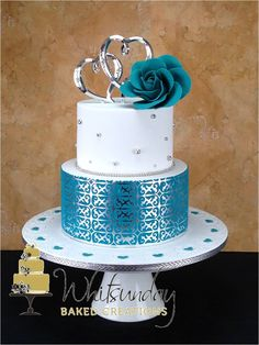using silver leaf on fondant - Google Search