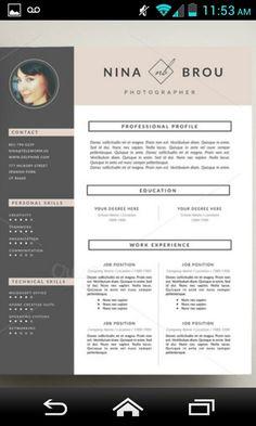 Creative Resume Templates Sjabloon Voor Creatieve Cv En Van Botanicapaperieshop Op Etsy  Cv