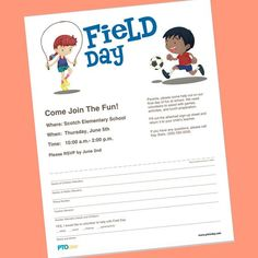 Having a school field day in May or June? Time to get the word out, PTO and PTA leaders! Field Day Activities, Field Day Games, Elementary Physical Education, Elementary Pe, Childhood Education, Last Day Of School Fun, School Stuff, Feild Day, Olympic Games For Kids