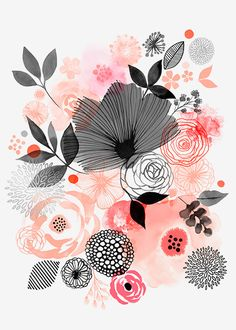 Magrikie : Illustration 	 : florals / plants / spring